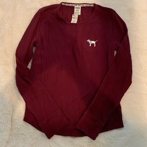 Victoria secret thermal waffle top NWT